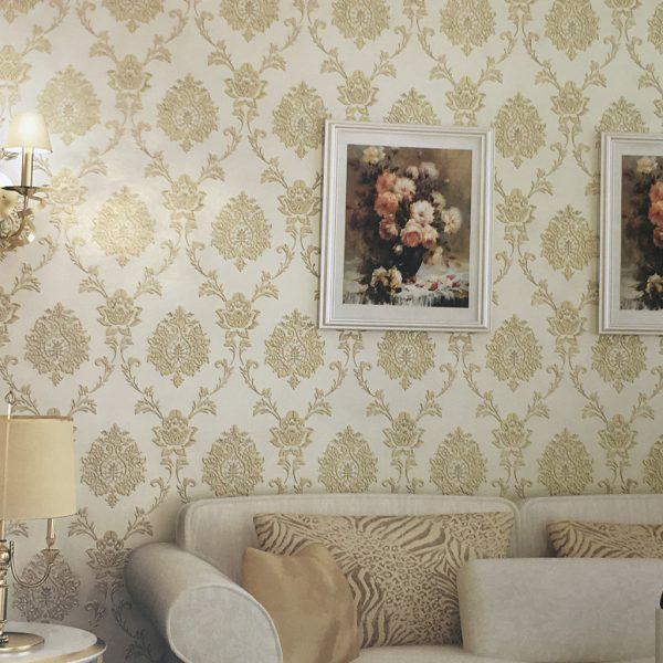 Hướng dẫn bạn chọn giấy dán tường cho phòng khách