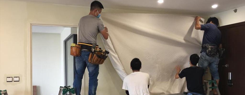 Thi công vải dán tường
