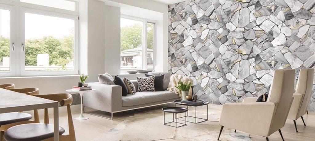 Lựa chọn giấy dán tường cho phòng khách